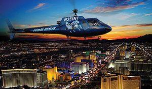 Nattflygning Med Helikopter Över Las Vegas Strip